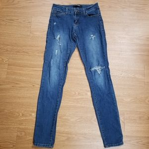Wax Jean Distressed Denim skinny Jeans size 5